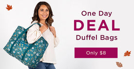 One Day Deal | Duffel Bags | Only $8