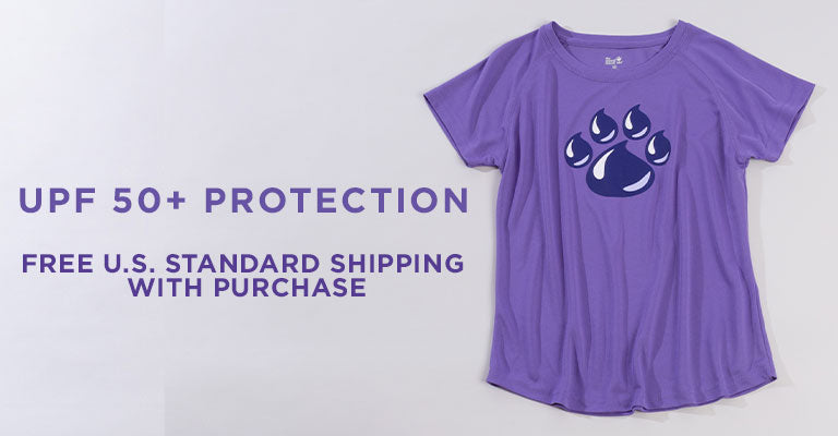 Paw Print SPF 50 T-Shirt | UPF 50+ Protection | FREE U.S. Standard Shipping with Purchase