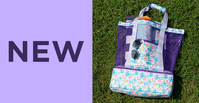 Floral Delight Paw Print Cooler Bag | New