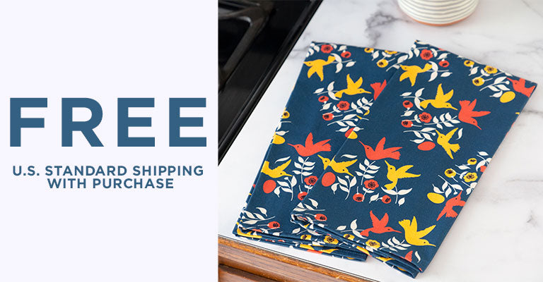 Cottage Hummingbird Kitchen Towel Set | FREE U.S. Standard Shipping with Purchase