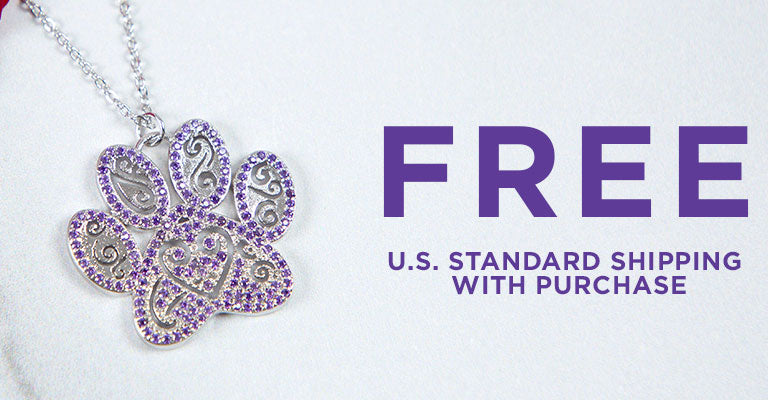 Ornate Crystal Paw Jewelry | FREE U.S. Standard Shipping with Purchase