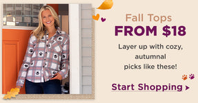 Fall Tops From $18 | Layer up with cozy, autumnal picks like these! | Start Shopping