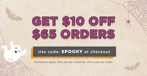 Get $10 Off $65 Orders | Use code: SPOOKY at checkout | Exclusions apply. One use per customer. Limit one code per order.