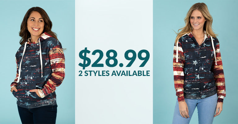 Old Glory Hooded Sweatshirt | 2 Styles Available | $28.99