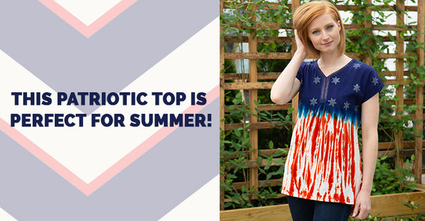 This patriotic top is perfect for summer!