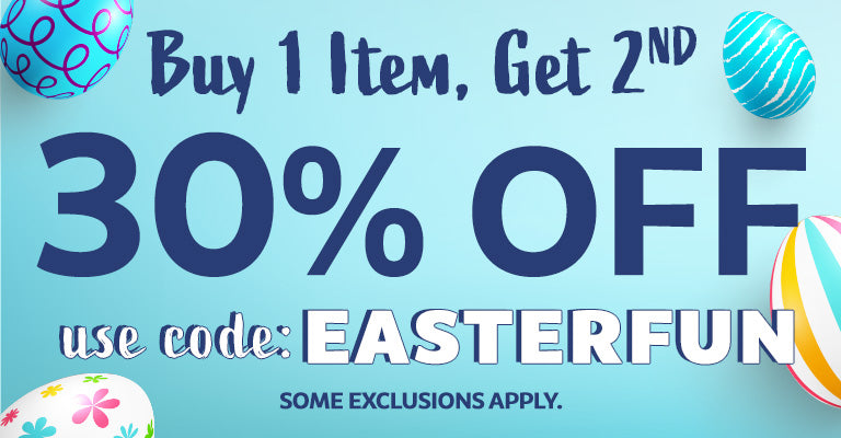 Buy 1 Item, Get 30% Off the 2nd | EASTERFUN | Some exclusions apply.