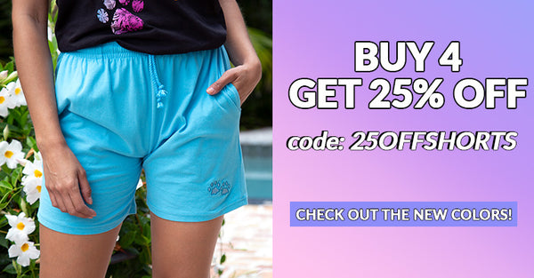 Buy 4, Get 25% Off when you use code 25OFFSHORTS