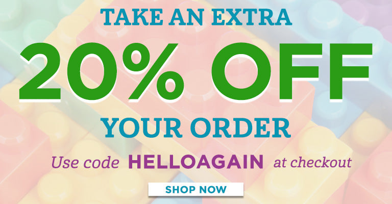 Take an extra 20% OFF Your Order! Use code HELLOAGAIN at checkout!