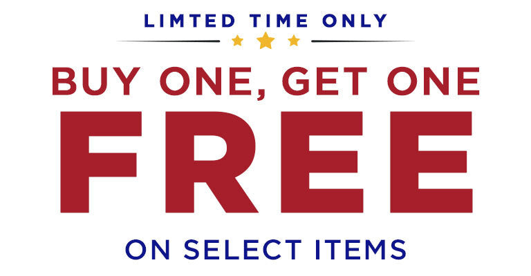 Limited Time Only. Buy One, Get One FREE on Select Items