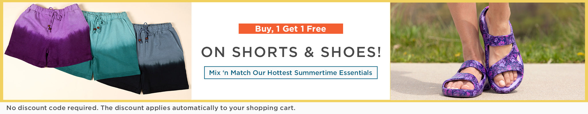 Buy 1, Get 1 Free on Shorts And Shoes!