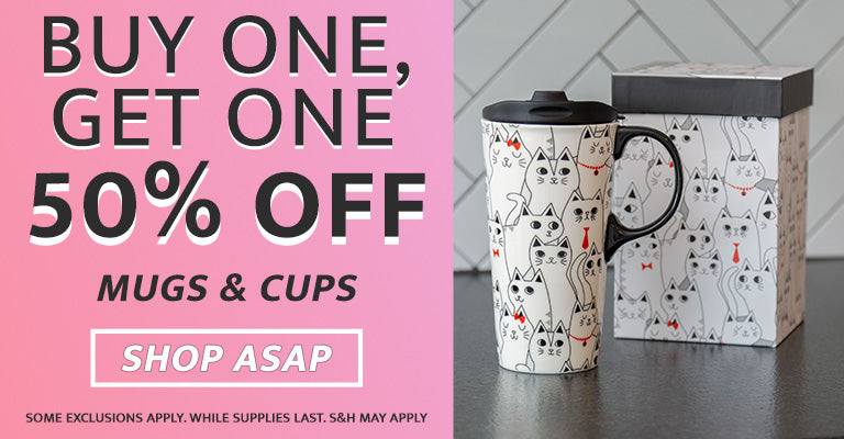 Buy One, Get One Half Off! | All Mugs & Cups