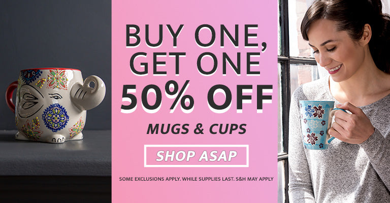 Celebrate National Coffee Day | All Mugs & Cups are Buy One, Get One Half Off!