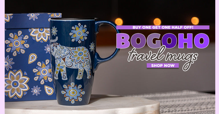 Buy One, Get One Half Off on select Travel Mugs!