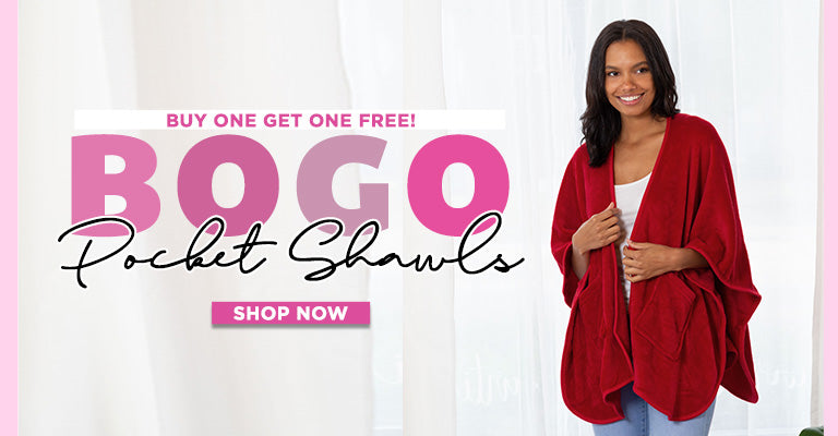 Buy One, Get One Free Pocket Shawls