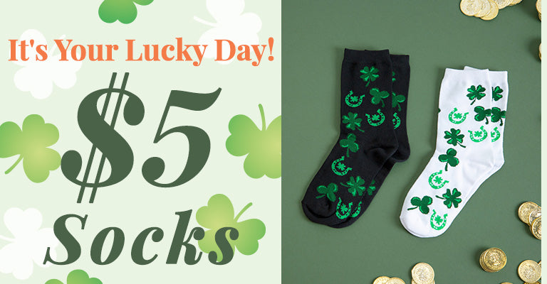 It's Your Lucky Day! | $5 Socks