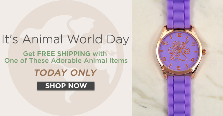 Today's World Animal Day | Get Free Shipping with one of these adorable animal items