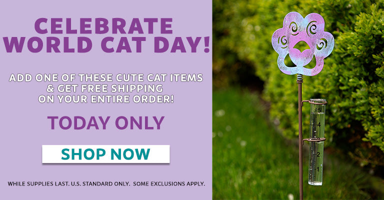 Celebrate World Cat Day! | Add one of these cute cat items and get free shipping on your entire order! | Today Only! | Shop Now!