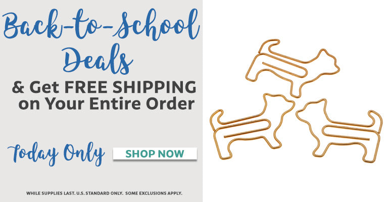 Back to School Retail Lightbox | Free Shipping on Your Entire Order with Purchase