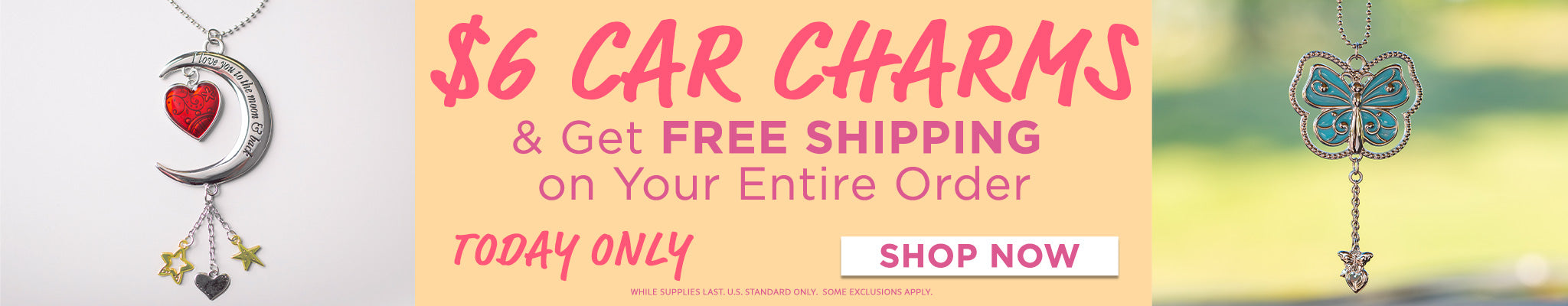$6 Car Charms | Get Free Shipping On Your Entire Order!