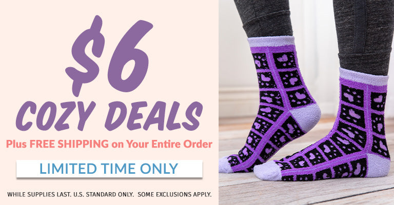 Time to get cozy! Free Shipping on Your Entire Order | $6