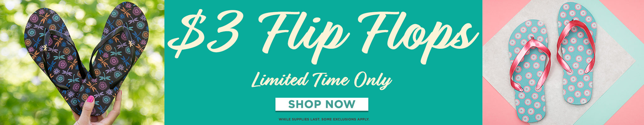 Don't Miss Out! $3 Flip Flops | Limited Time