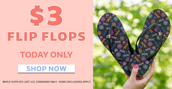 $3 Flip Flops | Today Only | Shop Now