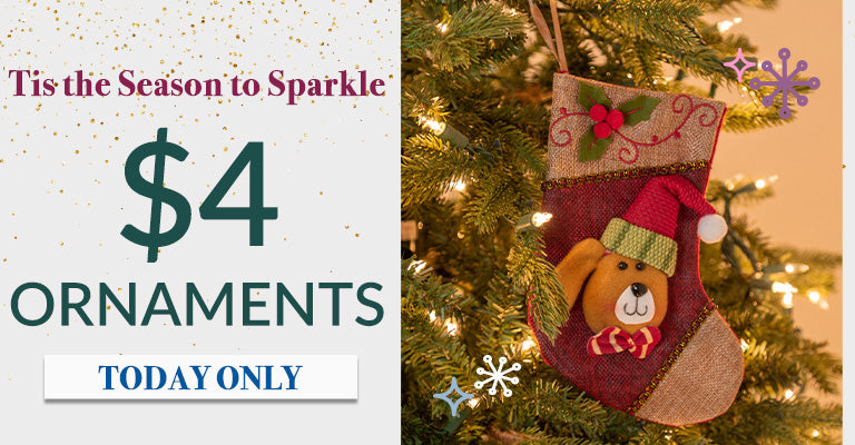 $4 Ornaments | Today Only!