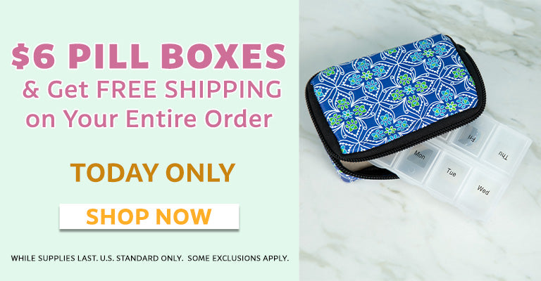 $6 Pill Boxes & Get Free Shipping on Your Entire Order