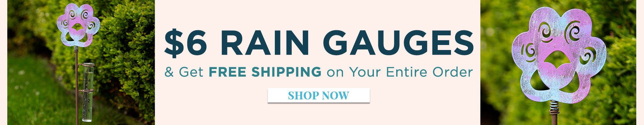 $6 Rain Gauges & FREE Shipping on Your Entire Order   Today Only