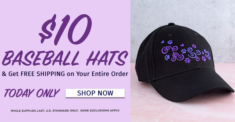 $10 Baseball Hats & Get Free Shipping on Your Entire Order