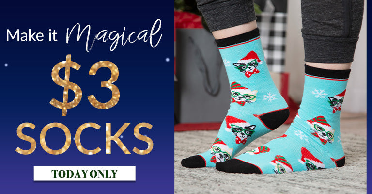 Make it Magical | $3 Holiday Socks! Today Only!