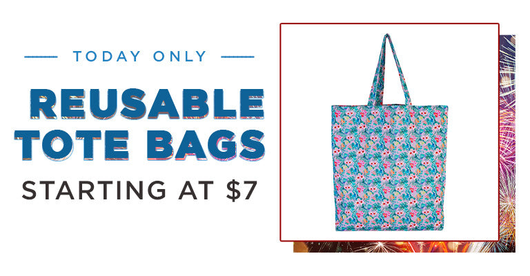 Resuable Tote Bags Starting at $7 | Today Only!