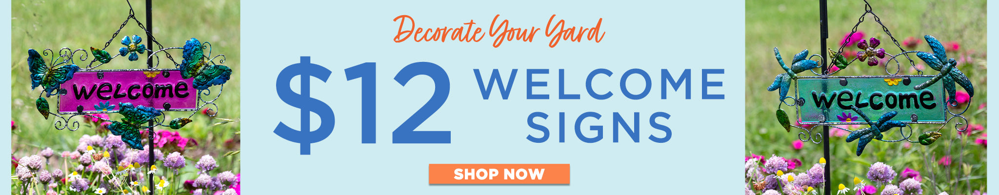 Decorate Your Yard | $12 Welcome Signs | Today Only
