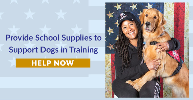 Provide Supplies to Support Dogs in Training