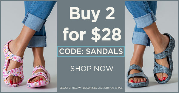 Buy 2 for $28. Use code SANDALS at checkout