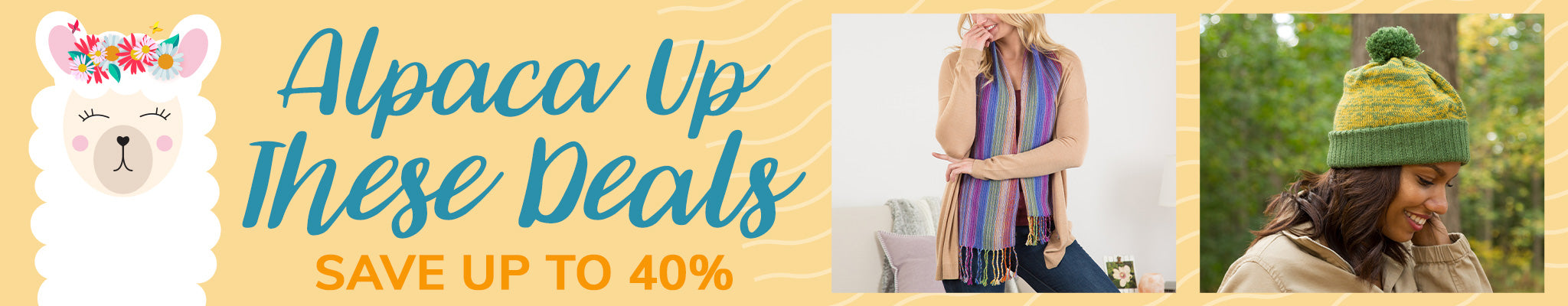 Alpaca Up These Deals | Save Up to 40%