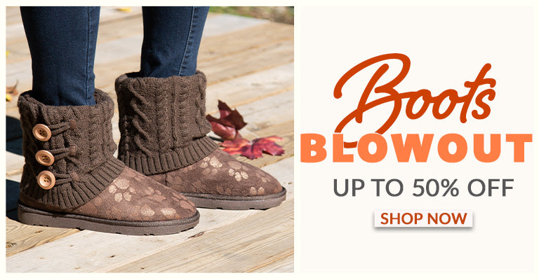 Boot Blowout | Up to 50% OFF | Shop Now