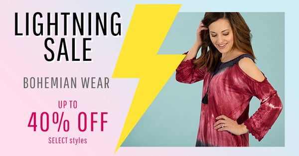 Lightning Sale! Up to 40% Off Select Styles