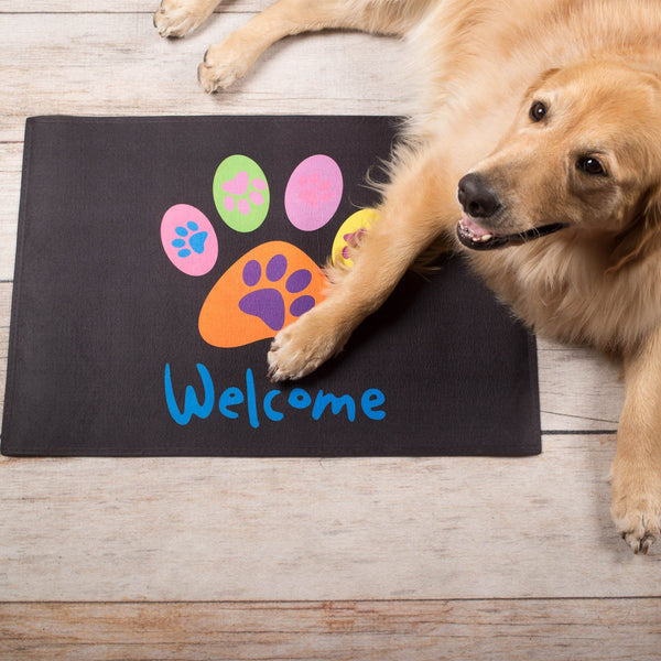 All Paws Welcome Door Mat