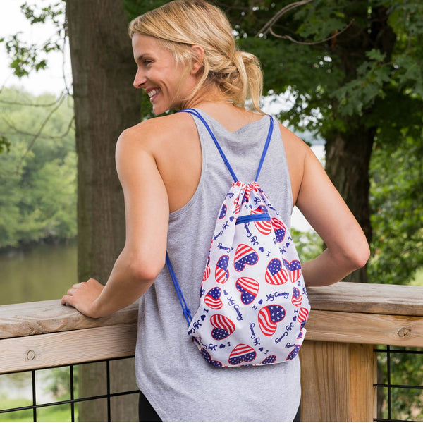 Promo - PROMO - Heart & Flag Sling Backpack