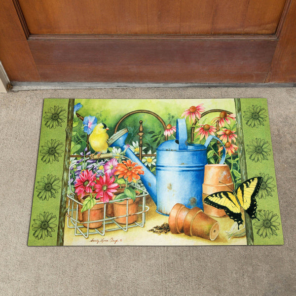 Gardening Day Recycled Door Mat