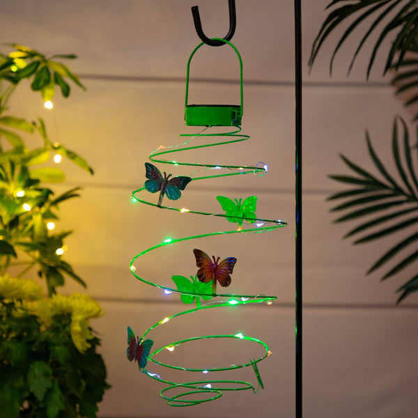 Fluttering Friends Solar Swirl Light