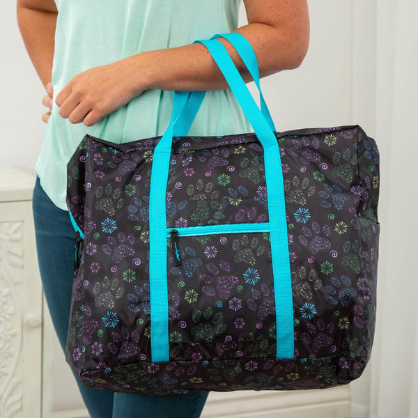 Paws In Bloom Packable Duffle Bag