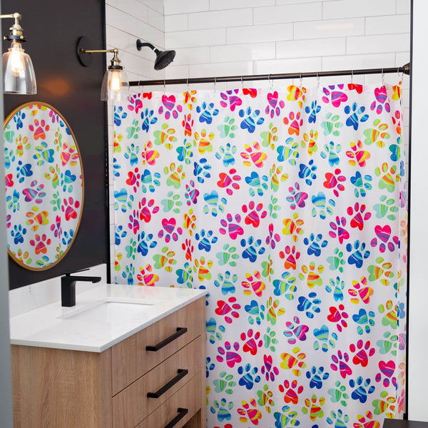 Painted Paws Shower Curtain
