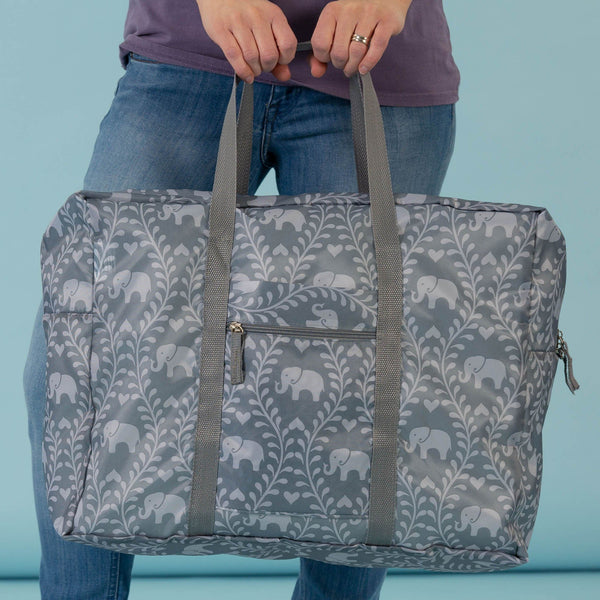 Promo - For The Love Of Elephants Packable Duffel Bag
