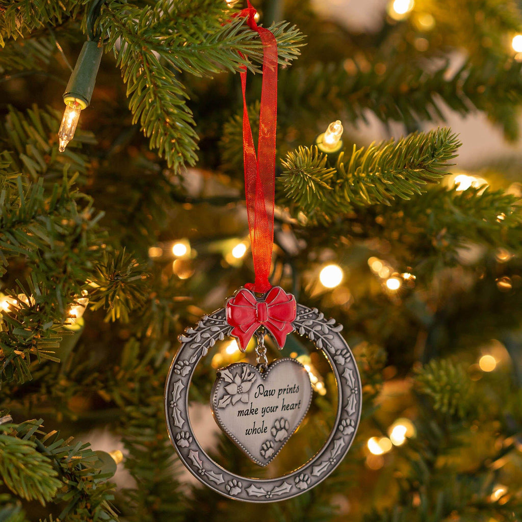 Paw Prints Make Your Heart Whole Ornament