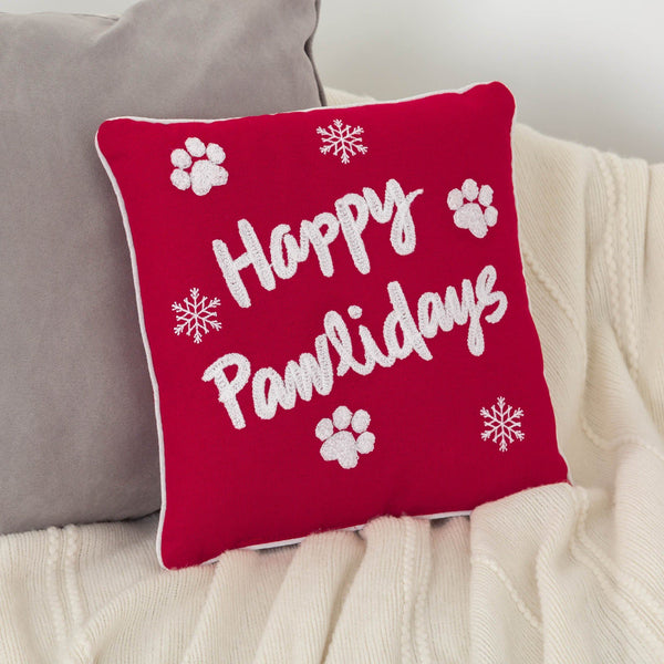 Happy Pawlidays Pillow