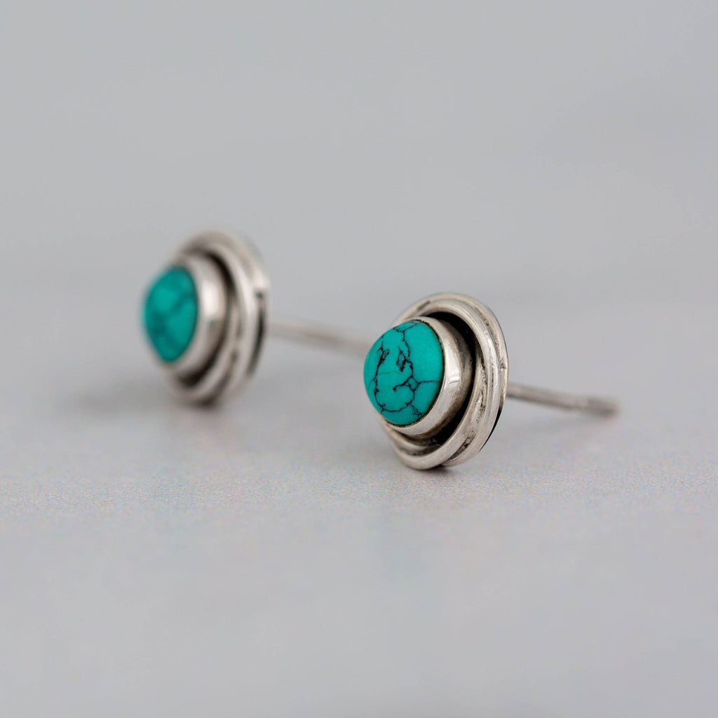Turquoise & Sterling Stud Earrings