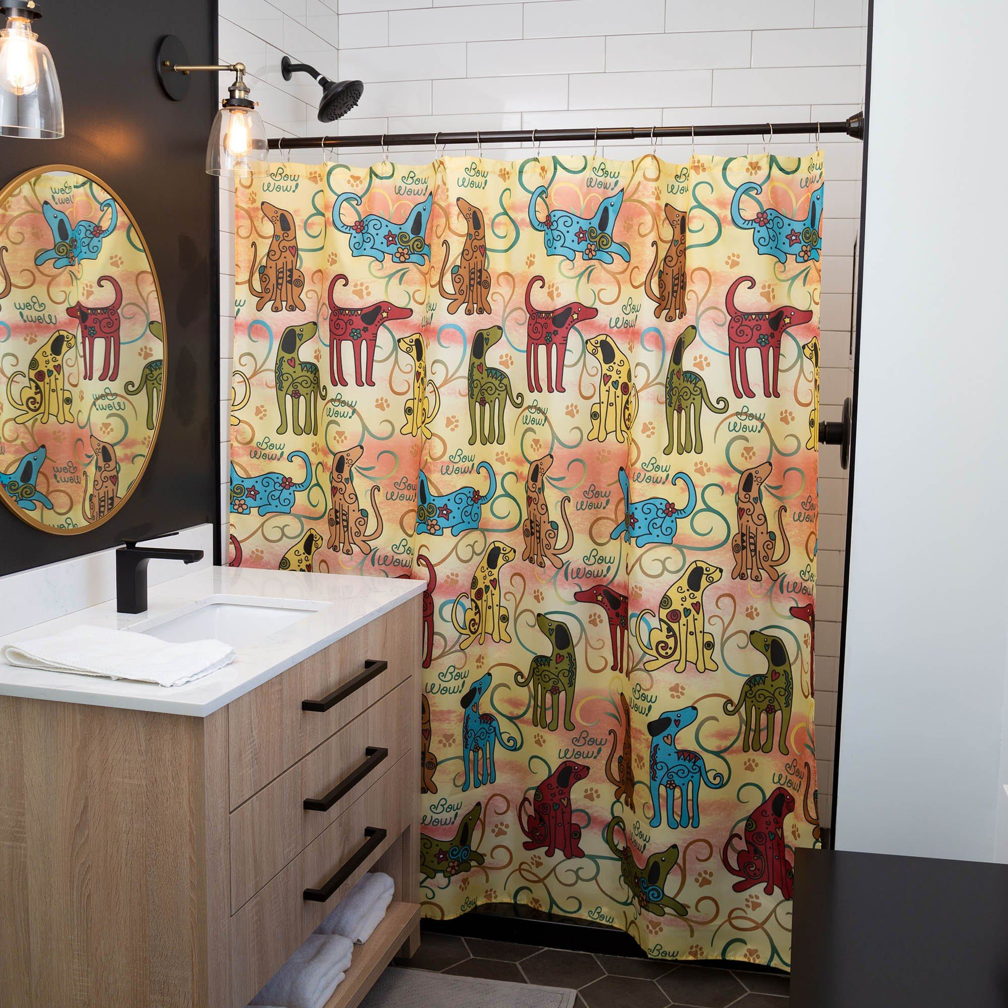 Festival Pets Shower Curtain The Animal Rescue Site