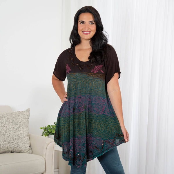 Dragonfly Meadow Short Sleeve Tunic